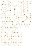 Vector el alfabeto inglés y los números completos de partido de seguridad ilustración del vector