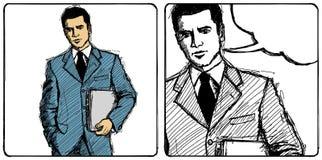 Hombre de negocios del bosquejo del vector ilustración del vector