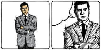 Hombre de negocios del bosquejo del vector stock de ilustración