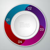 Vector el círculo del infographics del ejemplo dividido en sectores Stock de ilustración