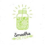 Vector el cartel del detox del smoothie en estilo plano linear de moda Fotografía de archivo