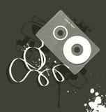 Vector el cassette, estilo del grunge Fotografía de archivo libre de regalías