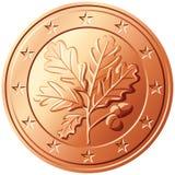 Vector el centavo euro Alemania del dinero Foto de archivo