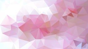 Vector el color suave del rosa en colores pastel de la luz poligonal irregular abstracta del fondo, color de rosa y de la cereza Fotos de archivo