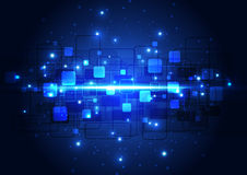 Vector el concepto de alta tecnología de la tecnología digital del ejemplo, fondo abstracto Imágenes de archivo libres de regalías