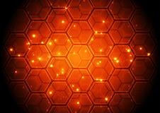 Vector el concepto de alta tecnología de la tecnología digital del ejemplo, fondo abstracto Imagenes de archivo