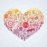 Concepto de la música del vector Foto de archivo libre de regalías