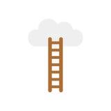 Vector el concepto de subida a la nube con la escalera en blanco con f libre illustration