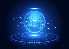 Vector el concepto global digital de la tecnología, fondo abstracto Foto de archivo