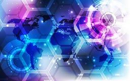 Vector el concepto global digital de la tecnología, fondo abstracto Imagenes de archivo
