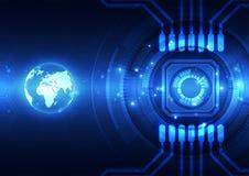 Vector el concepto global digital de la tecnología, fondo abstracto Foto de archivo libre de regalías