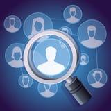 Vector el concepto social del establecimiento de una red de los media Fotografía de archivo