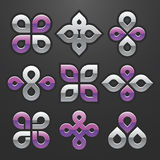 Vector el conjunto de símbolo abstracto Imagenes de archivo