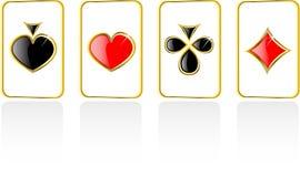Vector el conjunto de tarjeta del juego Stock de ilustración