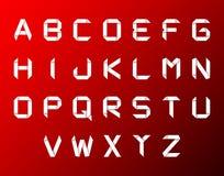 Vector el conjunto del alfabeto del origami Imágenes de archivo libres de regalías