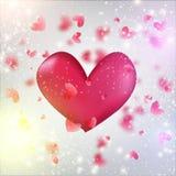 Vector el corazón en el backround blured brillante EPS10 del corazón Foto de archivo