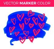 Vector el corazón del grunge, día de San Valentín, elemento del diseño del vintage del ejemplo Fotos de archivo