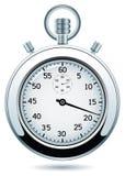 vector el cronómetro de plata Fotos de archivo