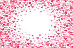 Vector el cuadro de texto rosado y rojo de los corazones de los días de tarjetas del día de San Valentín libre illustration