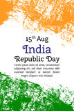 Vector el Día de la Independencia indio del ejemplo, bandera de la India en estilo de moda Plantilla del diseño de 14 August Wate Fotos de archivo