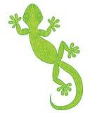Vector el dibujo de una salamandra del lagarto con los modelos étnicos Fotos de archivo