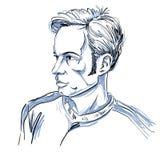 Vector el dibujo del arte, retrato del hombre que culpa alguien, éste es ningún libre illustration
