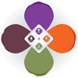 Vector el diseño de concepto del fondo del color para el folleto o el sitio web Fotografía de archivo libre de regalías