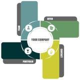 Vector el diseño de concepto del fondo para el folleto o el Web site Fotografía de archivo
