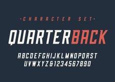 Vector el diseño dinámico cursivo condensado de la fuente de la exhibición, alfabeto, c