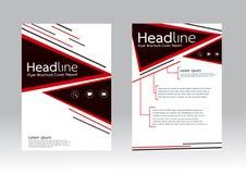 Vector el diseño para el aviador del folleto del informe de la cubierta de tamaño A4 Foto de archivo