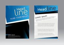 Vector el diseño para el aviador del folleto del informe de la cubierta de tamaño A4 Imagen de archivo