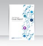 Vector el diseño para el cartel anual del aviador del folleto del informe de la cubierta de tamaño A4 Imagen de archivo libre de regalías
