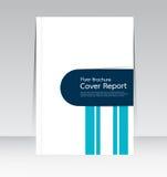 Vector el diseño para el cartel anual del aviador del folleto del informe de la cubierta de tamaño A4 Foto de archivo libre de regalías