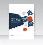 Vector el diseño para el cartel anual del aviador del folleto del informe de la cubierta de tamaño A4 Imagen de archivo