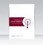 Vector el diseño para el cartel anual del aviador del folleto del informe de la cubierta de tamaño A4 Fotos de archivo libres de regalías