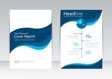 Vector el diseño para el cartel anual del aviador del informe de la cubierta de tamaño A4 Imagen de archivo libre de regalías