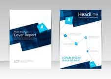 Vector el diseño para el cartel anual del aviador del informe de la cubierta de tamaño A4 Imágenes de archivo libres de regalías