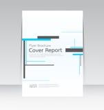 Vector el diseño para el cartel anual del aviador del informe de la cubierta de tamaño A4 Imagenes de archivo