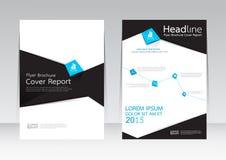 Vector el diseño para el cartel del aviador del folleto del informe de la cubierta de tamaño A4 Fotografía de archivo