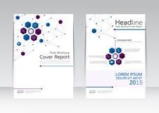 Vector el diseño para el cartel del aviador del folleto del informe de la cubierta de tamaño A4 Foto de archivo libre de regalías