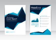 Vector el diseño para el cartel del aviador del folleto del informe de la cubierta de tamaño A4 Fotos de archivo libres de regalías