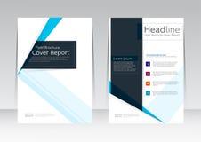 Vector el diseño para el cartel del aviador del folleto del informe de la cubierta de tamaño A4 Fotos de archivo