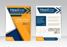 Vector el diseño para el cartel del aviador del folleto del informe de la cubierta de tamaño A4 Imagenes de archivo