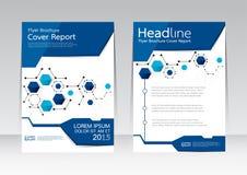 Vector el diseño para el cartel del aviador del folleto del informe de la cubierta de tamaño A4 Fotografía de archivo libre de regalías