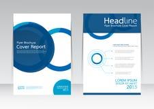 Vector el diseño para el cartel del aviador del folleto del informe de la cubierta de tamaño A4 Imagen de archivo