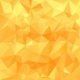 Vector el diseño triangular en colores soleados de la miel - amarillo del fondo poligonal, anaranjado Imagen de archivo libre de regalías