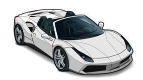 Vector el drenaje de un coche deportivo plano con las líneas negras foto de archivo libre de regalías