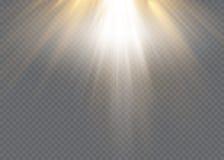Vector el efecto luminoso de la luz del sol del flash especial transparente de la lente flash delantero de la lente del sol Falta ilustración del vector