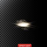 Vector el ejemplo abstracto de un efecto luminoso en la forma de los círculos y las líneas de oro Fotos de archivo libres de regalías
