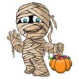 Vector el ejemplo aislado de una feliz momia para Halloween Foto de archivo